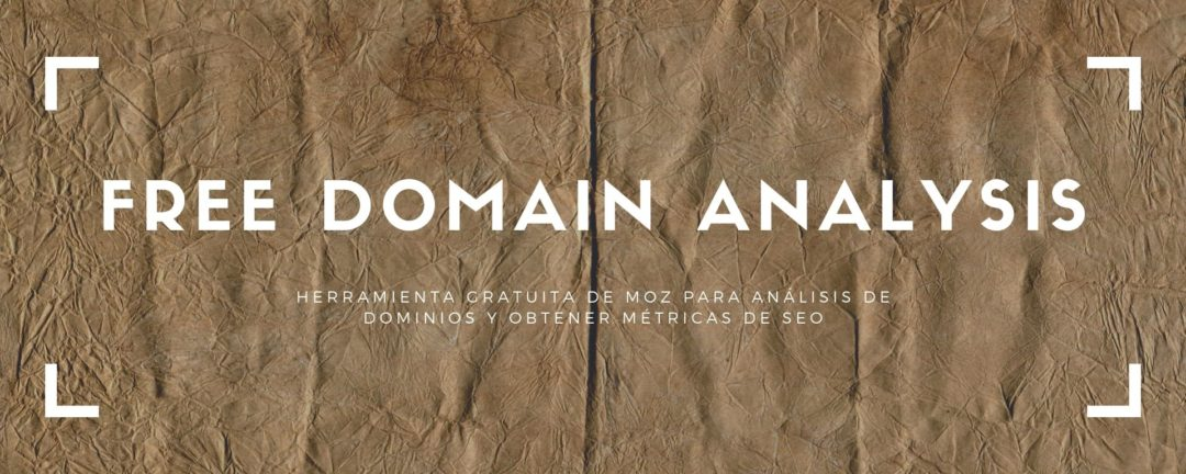 free domain analysis de Moz