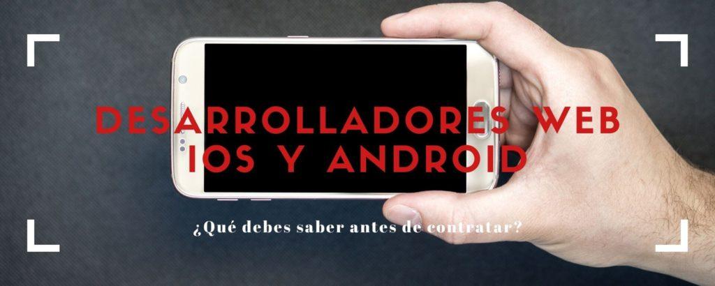 Aplicaciones web IOS y Android
