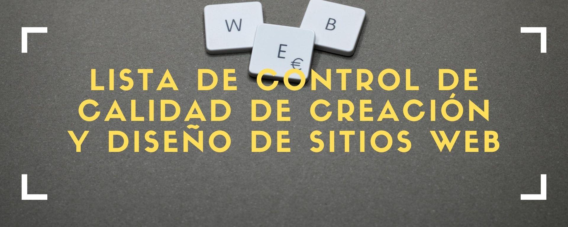 control calidad web