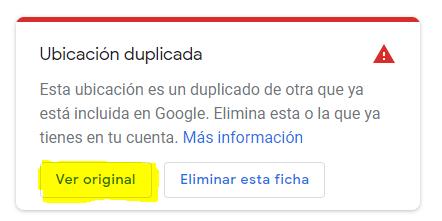 ¿Cómo puedo eliminar una ficha duplicada en Google My Business?