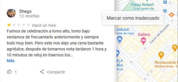 review inadecuada google