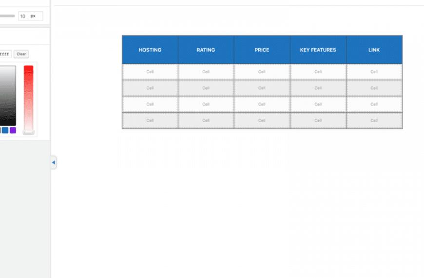 WP Table Builder: cómo crear una tabla responsive